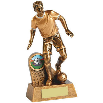 Antique Gold Action Footballer Resin