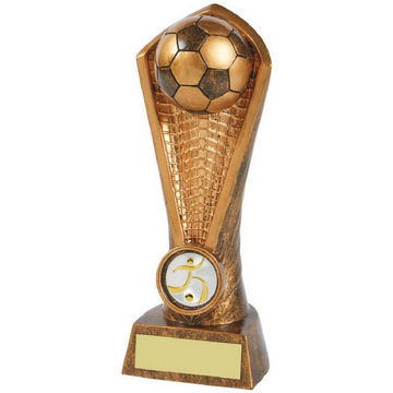 Gold Football Tower/Net Resin