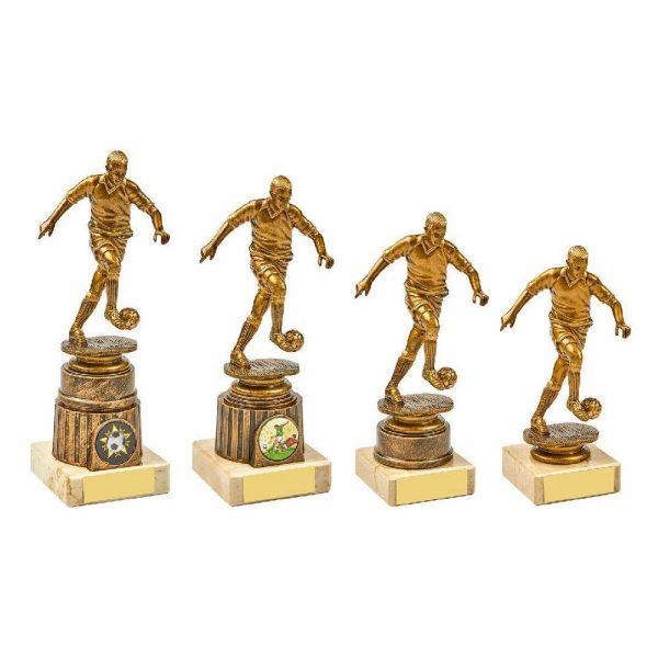 Antique Gold Kicking Male Footballer Award