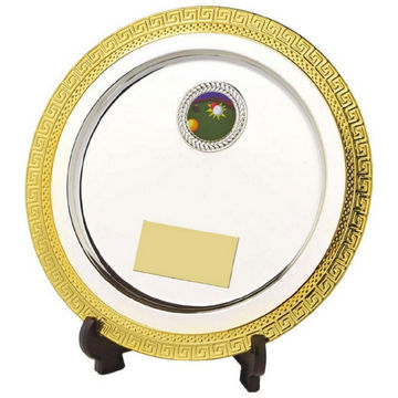 Silver Salver Award with Gold Edge