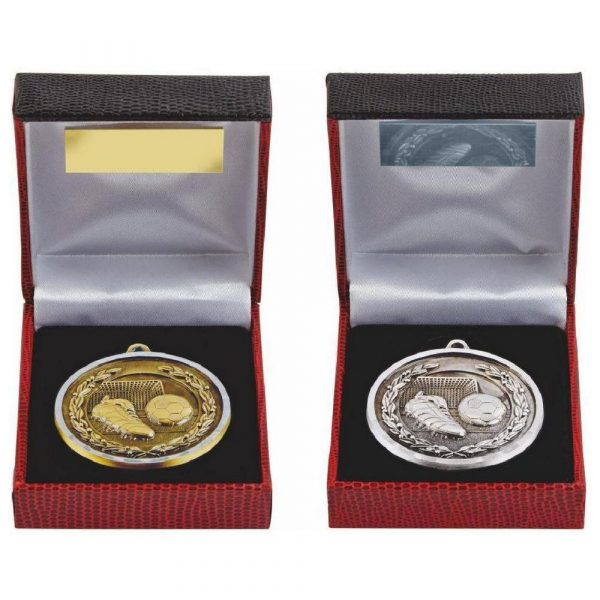 Diamond Edge Football Medal in Presentation Case