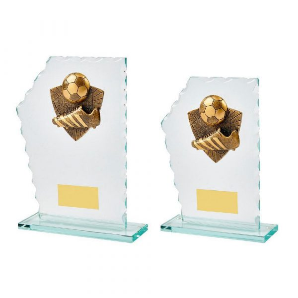 Jade Glass Stand Boot/Ball Award