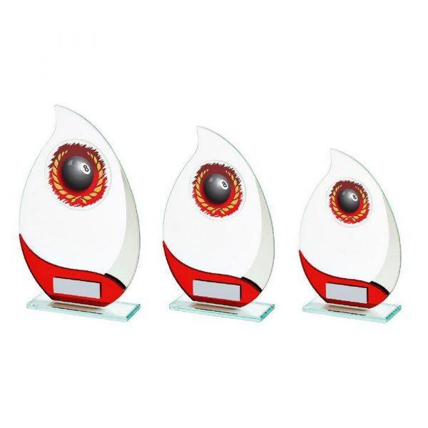 Jade Glass Teardrop Pool Award