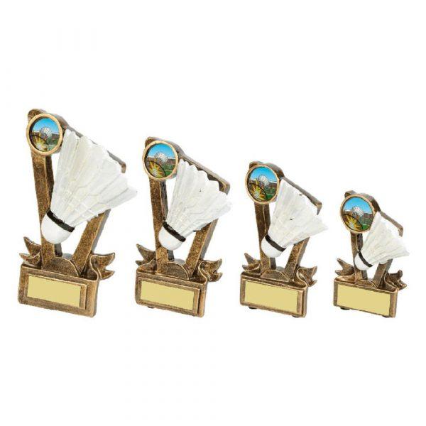 Gold Resin Badminton Shuttlecock Award
