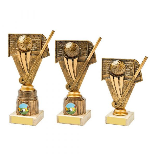 Antique Gold Hockey Holder Award