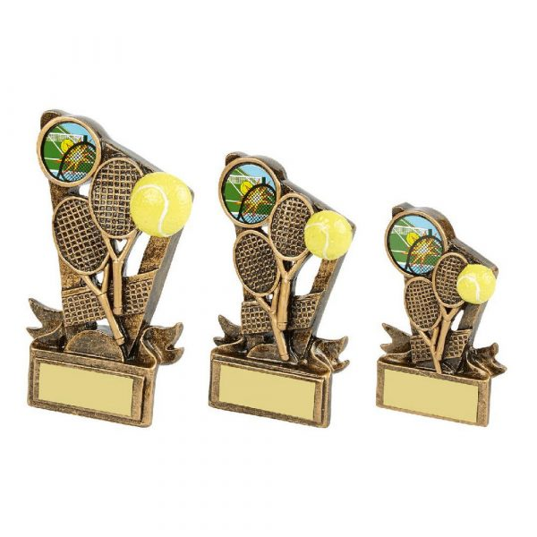 Gold Resin Tennis Rackets Award