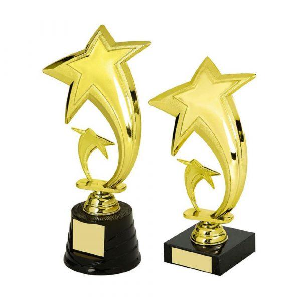 Gold Star Trophy on Black Base