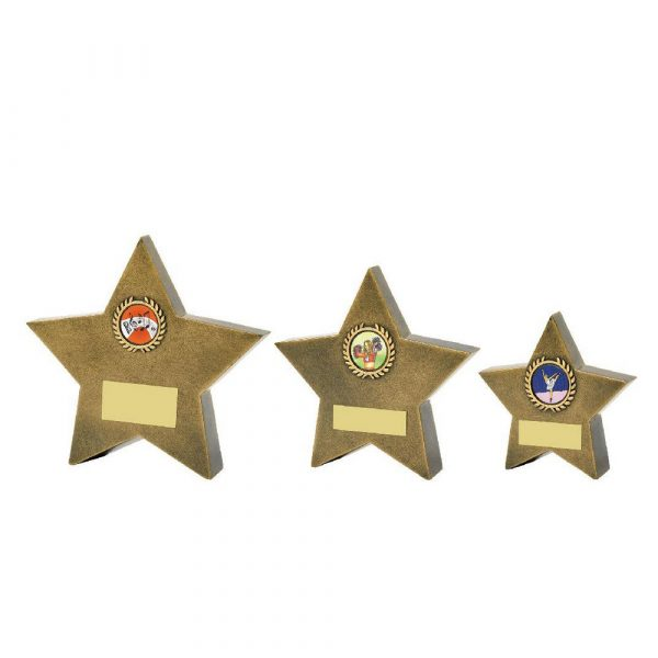 Antique Gold Resin Star Awads
