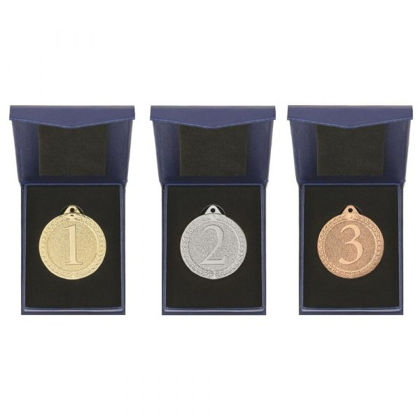 50mm Placing Antique Finish Medals in Boxes