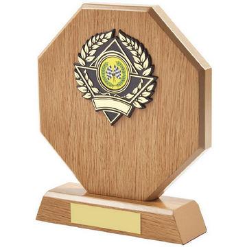 Light Wood Octagon Sports Award