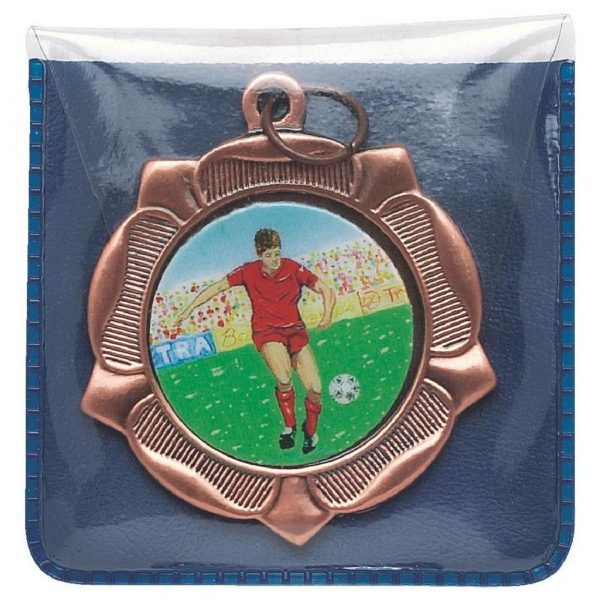 Blue Plastic Medal Wallet with Clear Front