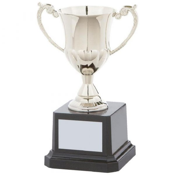 Nickel Plated Cup on Weighted Base