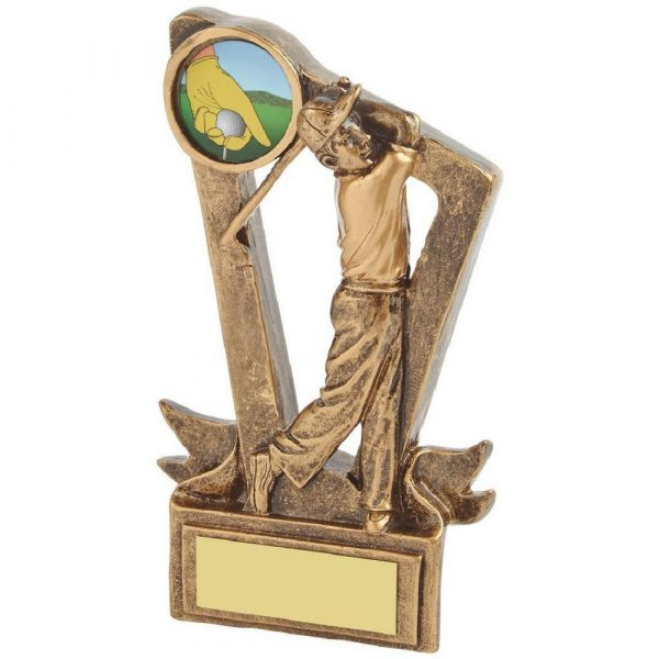 Gold Resin Mens Golf Award