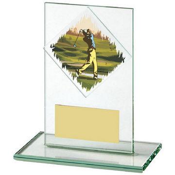 Jade Glass Upright Golf Award