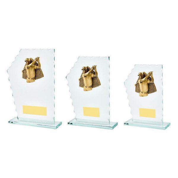 Jade Glass Male Golf Resin Trim Award