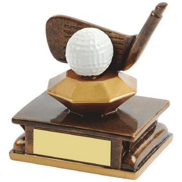 Gold Resin Golf Wedge Award