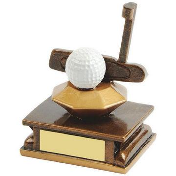Gold Resin Golf Putter Award