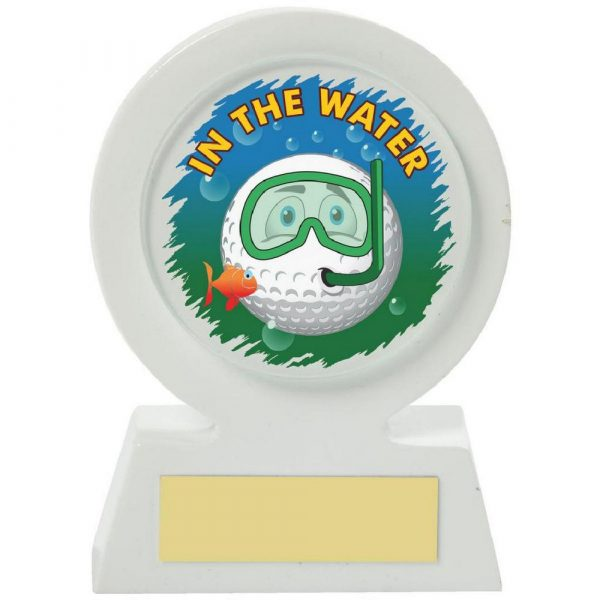 White Resin Golf Collectable - Water