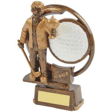 The Winner - Novelty Golf Trophy