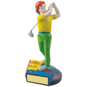 Longest Drive Novelty Golf Trophy