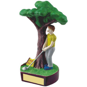 In the Rough Novelty Golf Trophy