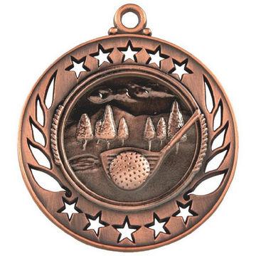 60mm Laser Cut Golf Medal