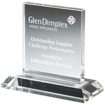 Clear Glass Rectangular Stand