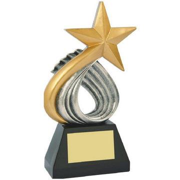 Resin Gold Star Sculpture