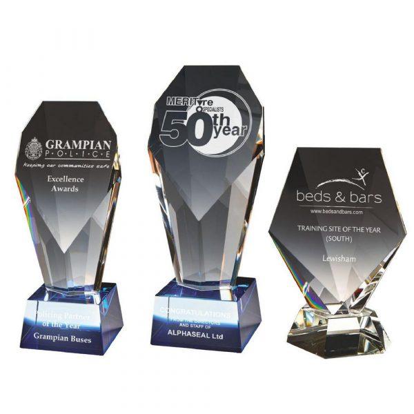 Crystal Award with Blue Tint