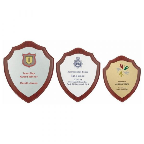 Wood Shield Award with Colour Laminate Front