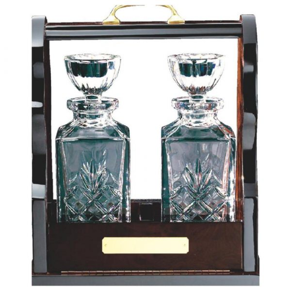 Tantalus with Two Decanters