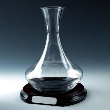 Wine Decanter on Wood Base