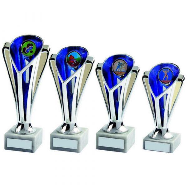 Silver/Blue Sculpture Cup