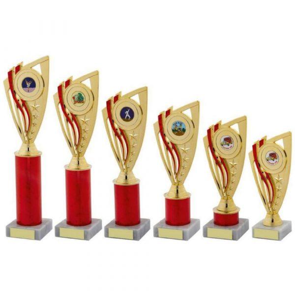 Red Column Holder Trophy