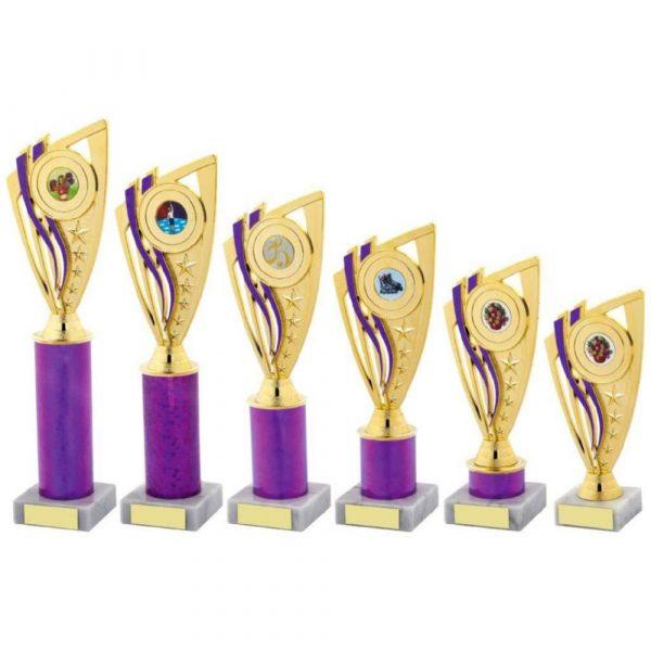 Purple Column Holder Trophy
