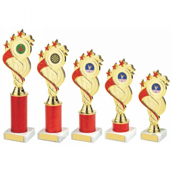 Gold/Red Tube Trophy