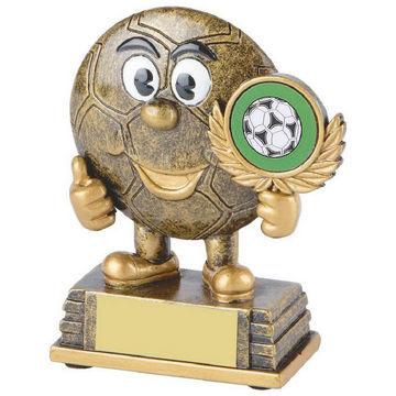 Gold Comic Football Trophy