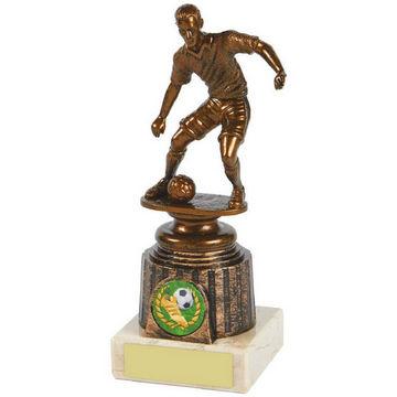 Antique Gold Footballer Trophy