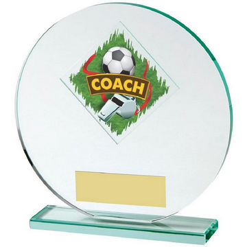 Jade Glass Football Coach Award