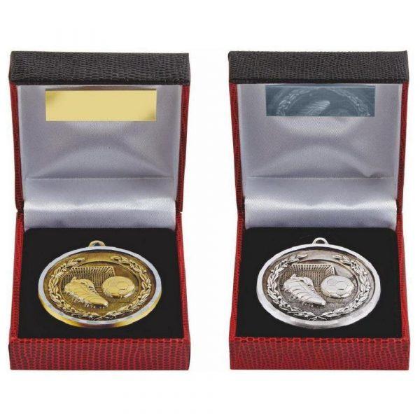 Diamond Edge Football Medal in Presentation Case