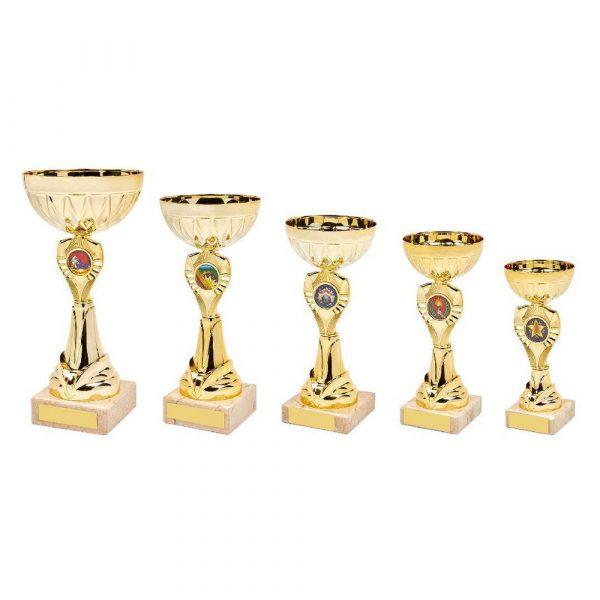 Shiny Gold Trophy Cup Award