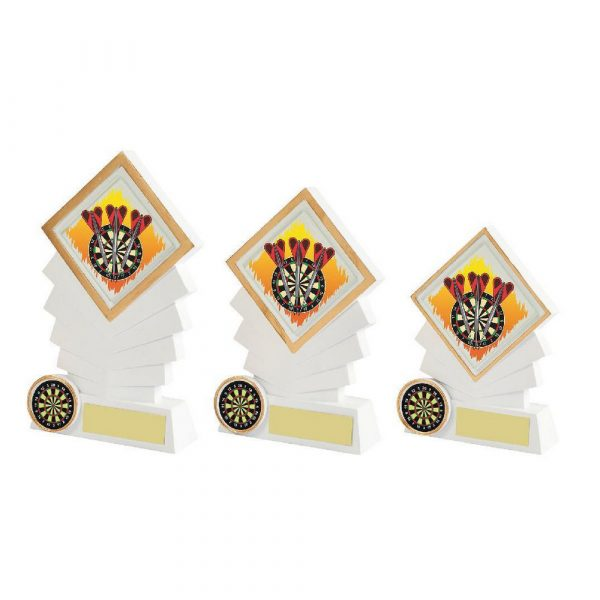 White Resin Diamond Darts Award