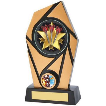 Black/Gold Resin Holder Darts Award