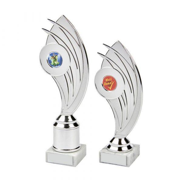 Silver Swoosh Curve Holder Trophy