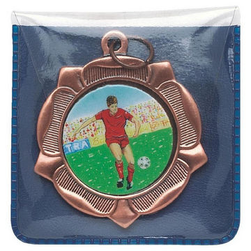 Blue Plastic Medal Wallet for 50mm Medals
