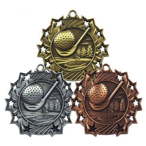 60mm Stars Golf Medal
