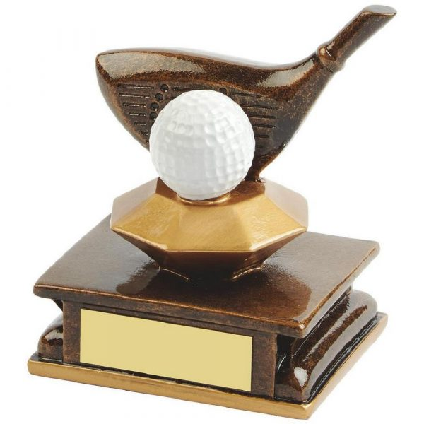 Gold Resin Golf Driver Award