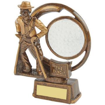 The Bandit - Novelty Golf Trophy