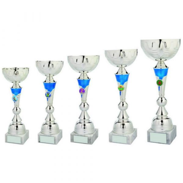 Silver/Blue Trophy Cup