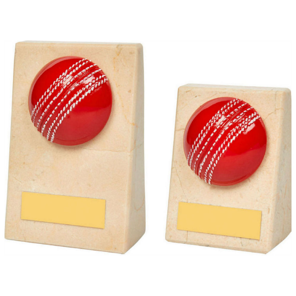 Cream Marble Wedge With Cricket Ball Challenge Trophies
